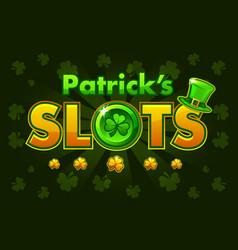 screen logo slots banner casino slots banner of vector image