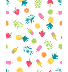 seamless fruit pattern with watermelon vector image