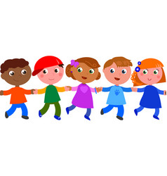 seamless line of children vector image vector image