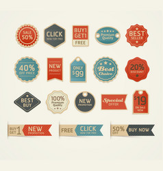 set retro vintage badges and labels design vector image