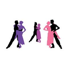 Tango dancing vector image