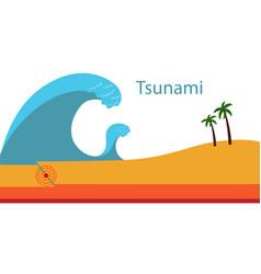 The creation of a tsunami vector