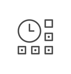 time management line outline icon vector image