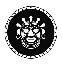 tribal african mask print symbol icon vector image