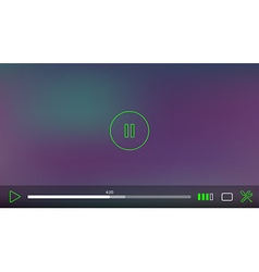 Video Player Window with Menu and Buttons Panel vector