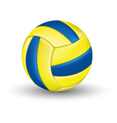 water polo ball with blue and yellow stripes vector image