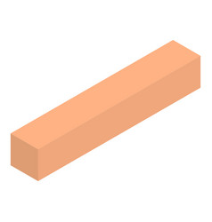 wood icon isometric style vector image