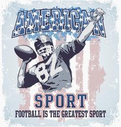 American sport football vector image