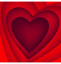 bright red heart vector image vector image