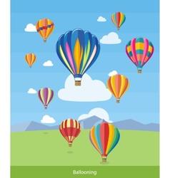 Hot Air Balloons Flying vector image