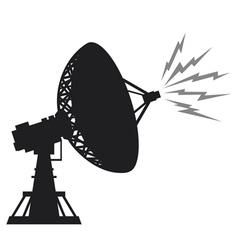 radar silhouette vector image