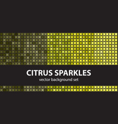 abstract pattern set citrus sparkles seamless vector image vector image