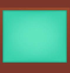 empty light green school chalkboard with frame vector image