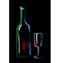 wine on black vector image vector image