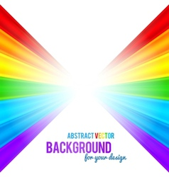 Abstract rainbow stripes background vector image vector image