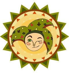 Jester Face Sign vector image vector image
