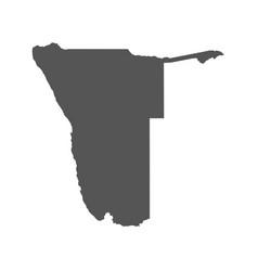 namibia map black icon on white background vector image