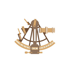 old ship sextant vector image