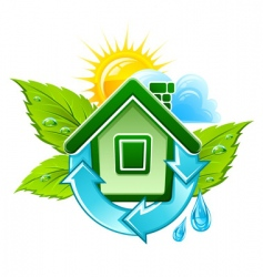 symbol of ecological house vector image