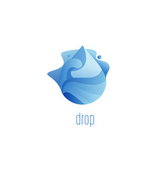 water drop flame abstract symbol vector image