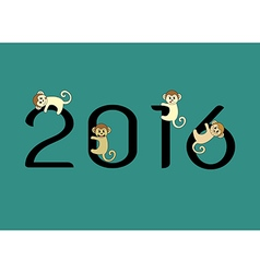 2016 monkey vector