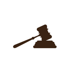 court hammer logo vector image