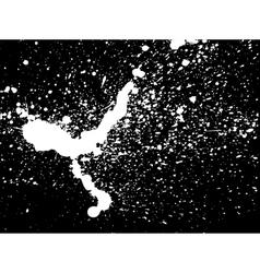 graffiti paint splatter pattern in white on black vector image