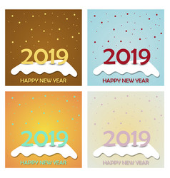 2019 happy new year background for your seasonal vector image