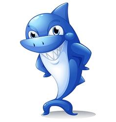 A big blue shark vector image