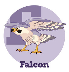 Abc cartoon falcon vector