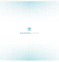abstract blue halftone design concept background vector image