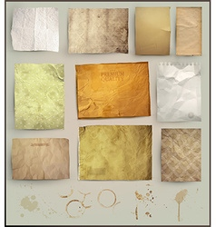 Aged Paper Set vector image vector image