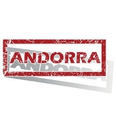Andorra outlined stamp vector