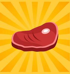 bacon steak on bone isolated vector image