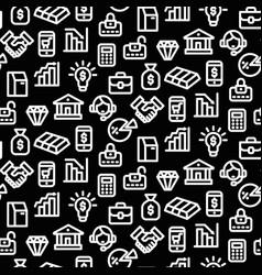 banking seamless pattern vector image