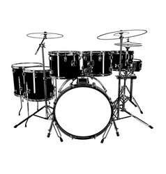 Black and white drums vector