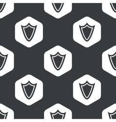 Black hexagon shield pattern vector