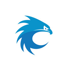 blue eagle graphic design template isolated vector image