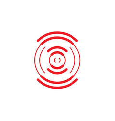 bright connection sign from red circles vector image