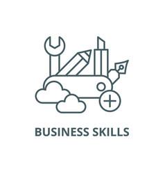 Business skills line icon business skills vector