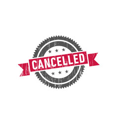 cancelled stamp seal label logo vector image