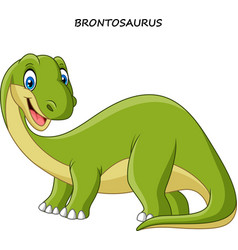 cartoon smiling brontosaurus vector image