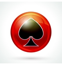 Casino games icon vector image