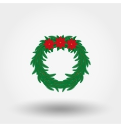 Christmas wreath Flat vector