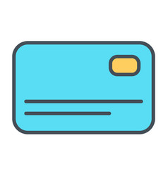 credit card line icon simple minimal 96x96 vector image