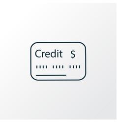 credit score icon line symbol premium quality vector image