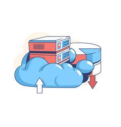 Data cloud storage vector