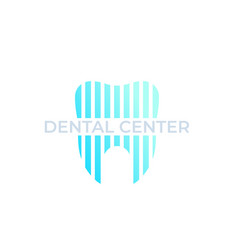 dental center dentist stomatology logo vector image