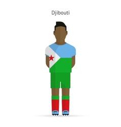 Djibouti football player Soccer uniform vector
