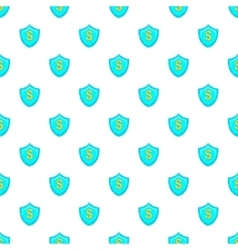 Dollar sign on a sky blue shield pattern vector